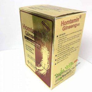 Homtamin ginseng Hộp 60 viên - Bổ sung vitamin và muối khoáng