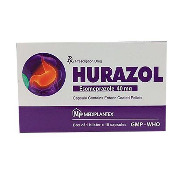 Thuốc Hurazol - Hộp 10 Viên - Điều Trị Trào Ngược Dạ Dày, Thực Quản