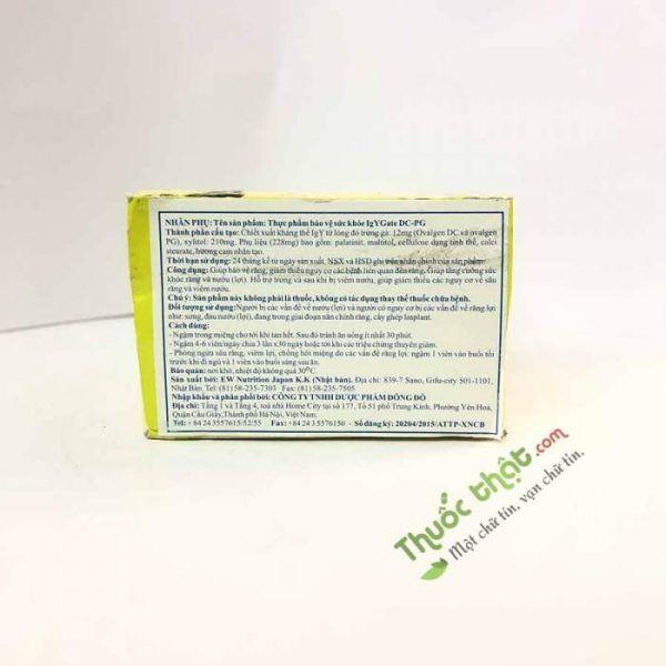 Viên Ngậm IgYGate-Hộp 60 Viên-Giúp Giảm Nguy Cơ Bệnh Tật