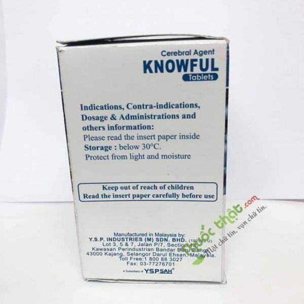 Thuốc Knowful 800 mg - Điều trị chấn thương sọ não, giảm nhận thức