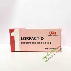 Thuốc Lorfact D 5 mg - Điều trị viêm mũi dị ứng, mày đay