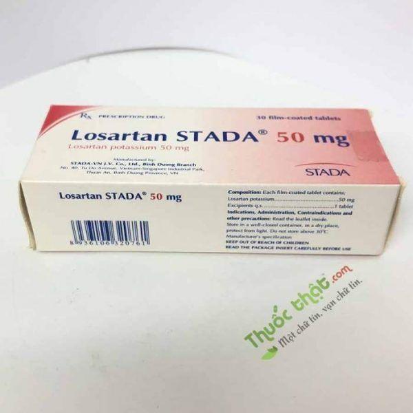 Losartan Stada 50mg Hộp 30 viên - Điều trị bệnh cao huyết áp