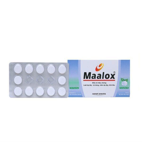 Thuốc Maalox - Hộp 48 Viên - Trung Hòa Acid Dịch Vị