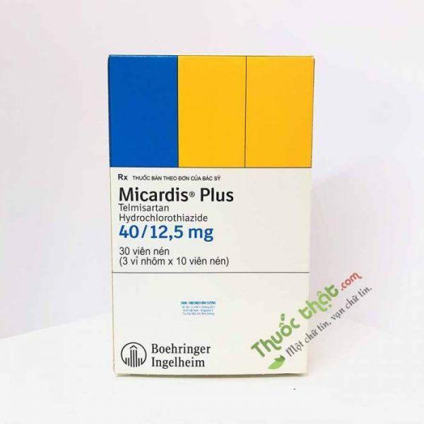 Micardis Plus 40/12,5mg Hộp 30 viên - Điều trị bệnh cao huyết áp