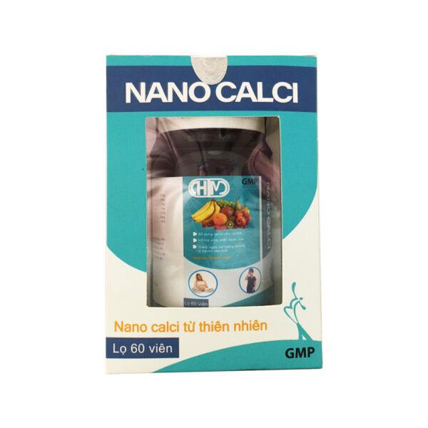 Thực phẩm bảo vệ sức khỏe nano calci  60 viên - Bổ sung canxi