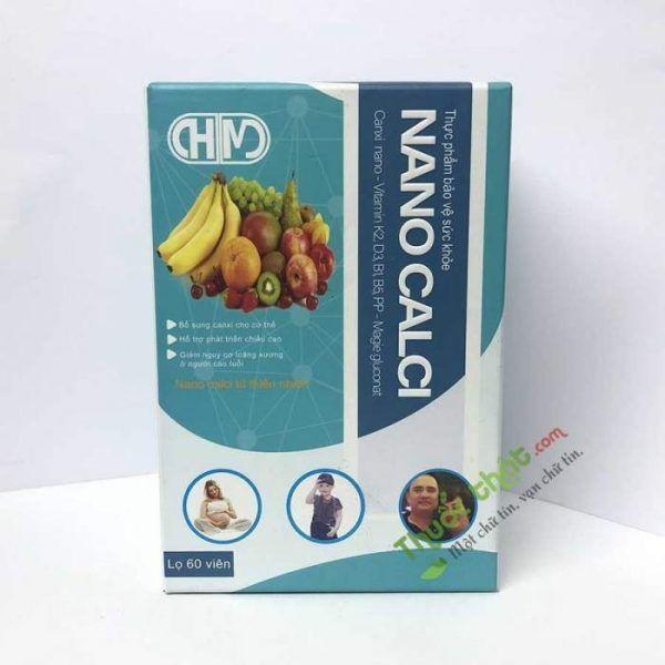 Thực phẩm bảo vệ sức khỏe nanocalci  60 viên- Bổ sung canxi