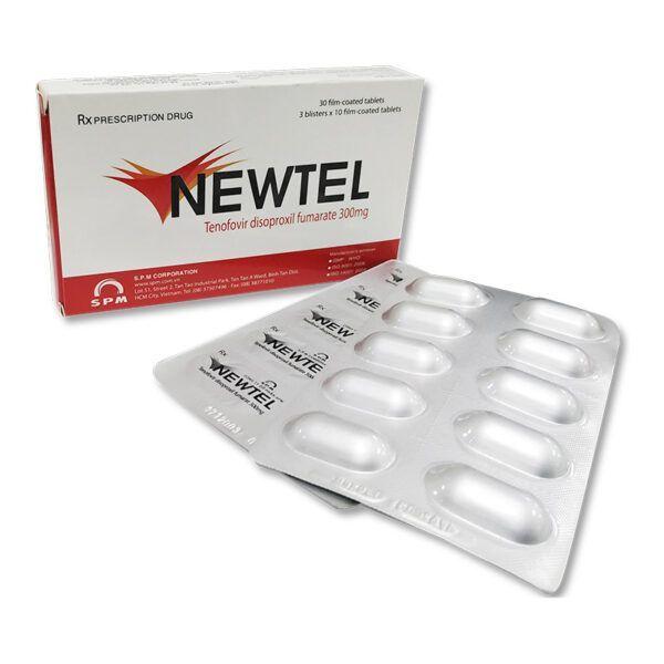 Thuốc Newtel 300mg - Hộp 300 Viên - Điều Trị HIV, Viêm Gan B Mạn Tính