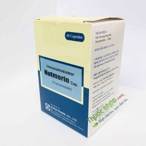 Nutmorin Hộp 60 viên - Tăng cường sức đề kháng