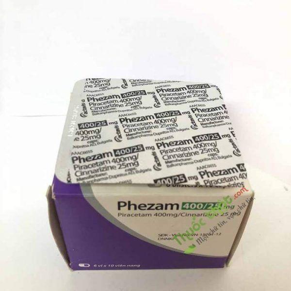 Thuốc Phezam 400/25 mg-Điều Trị Chứng Đột Quỵ