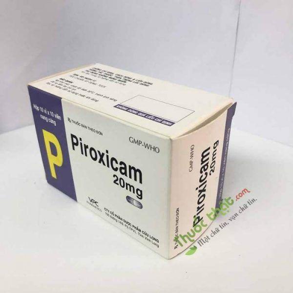 Piroxicam 20mg Hộp 100 viên - Giảm đau chống viêm