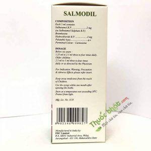 Salmodil Expectorant Syrup Hộp 100 ml - Trị Viêm Phế Quản