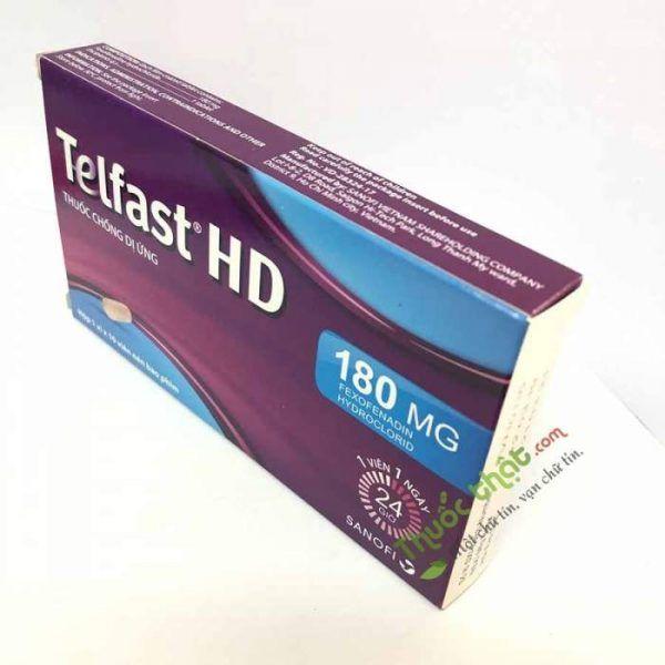 THUỐC TELFAST HD 180 MG - Điều trị viêm mũi dị ứng, mề đay