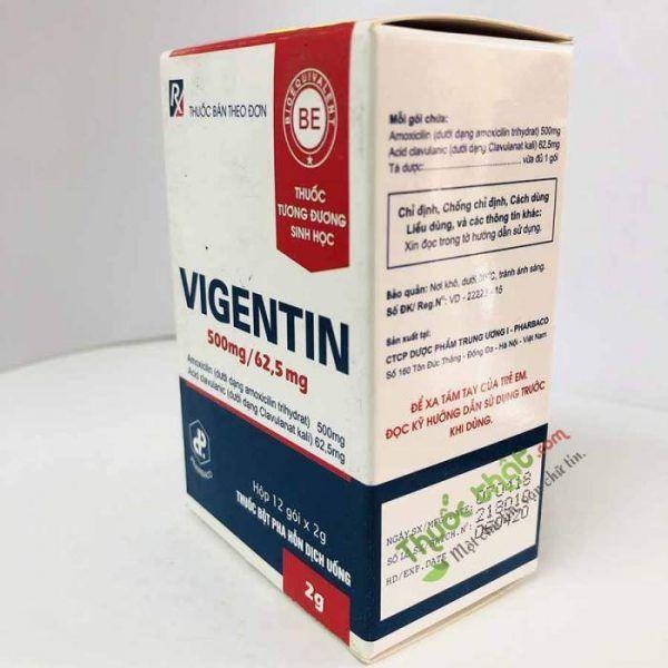 Thuốc Vigentin 500mg/62.5mg-Điều Trị Viêm Đường Hô Hấp