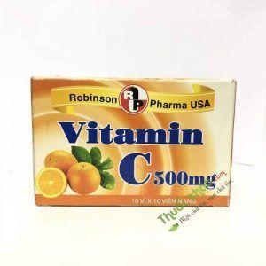 Viên uống bổ sung Vitamin C robinson - Hộp 100 viên