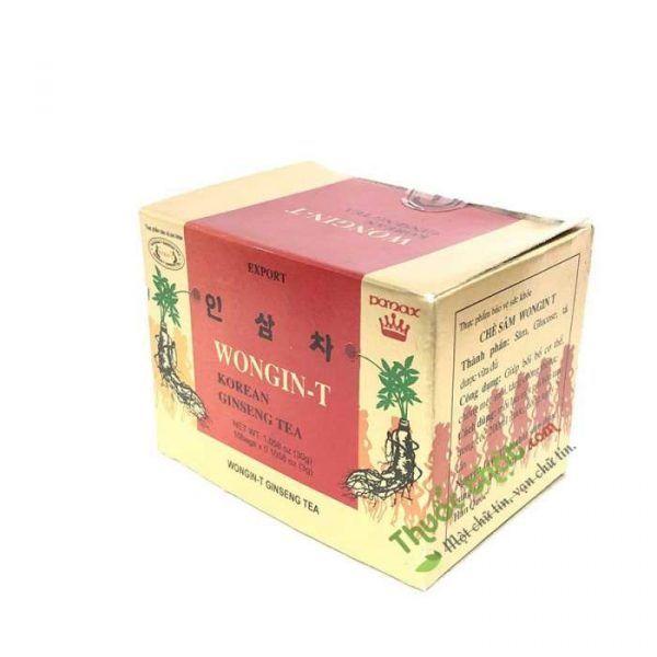 Trà Nhân Sâm Hàn Quốc Wongin T Ginseng Tea Hộp 100 Gói