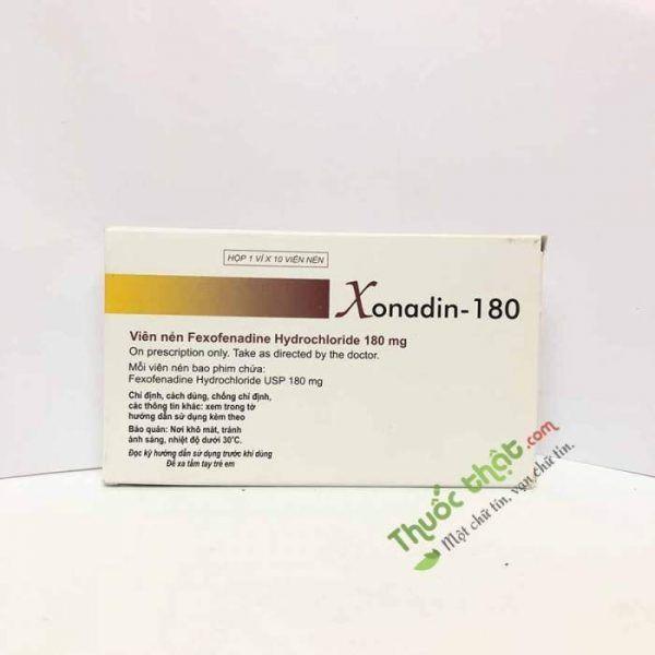 Thuốc Xonadin 180mg-Điều Trị Mề Đay, Viêm Mũi Dị Ứng
