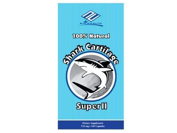 Sụn Vi Cá Mập Nu-Health Shark Cartilage Super II 100 Viên