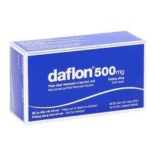 Daflon 500mg - Thuốc trị trĩ, suy giãn tĩnh mạch - 60 viên