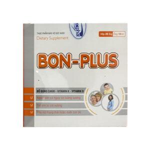 Bon Plus Hộp 20 ống - Bổ sung canxi, vitamin K, Vitamin D