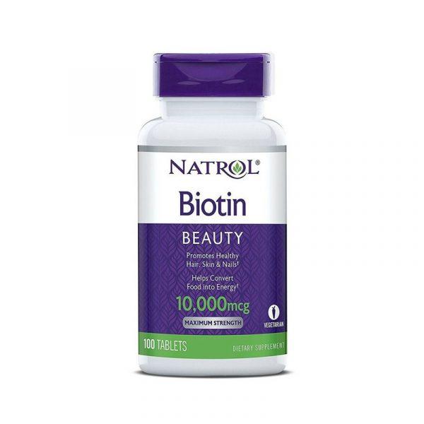 Biotin 10000 mcg - Hộp 100 Viên - Cải Thiện Tình Trạng Rụng Tóc
