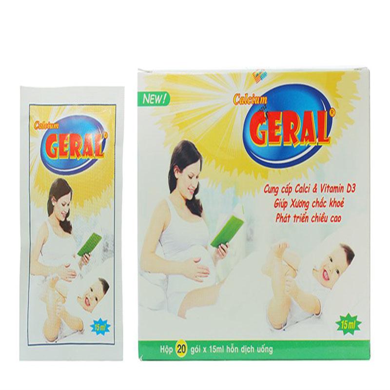 Calcium Geral hộp 20 gói x 15ml