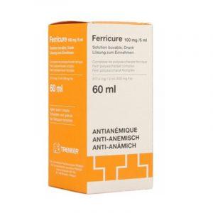Thuốc Ferricure 100mg/5ml - Lọ 60ml - Trị Thiếu Máu