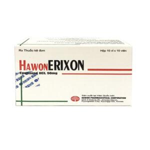 Hawon Erixon 50mg Hộp 100 viên - Cải thiện sự co cứng cơ vai