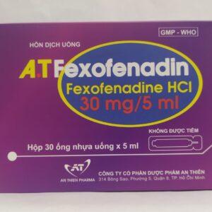 A.T Fexofenadin Hộp 30 ống - Điều trị các bệnh dị ứng