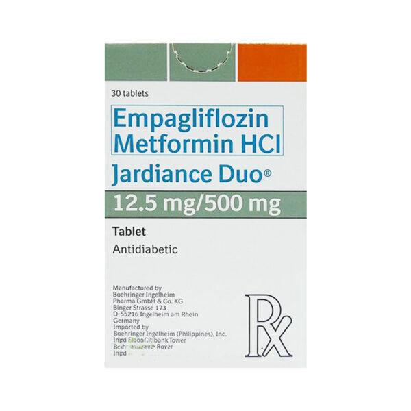 Jardiance Duo 12.5 mg / 500 mg Hộp 30 Viên - Kiểm Soát Đường Huyết