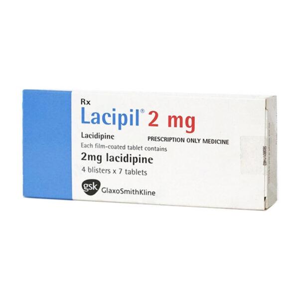 Lacipil 2mg Hộp 28 Viên - Điều Trị Tăng Huyết Áp