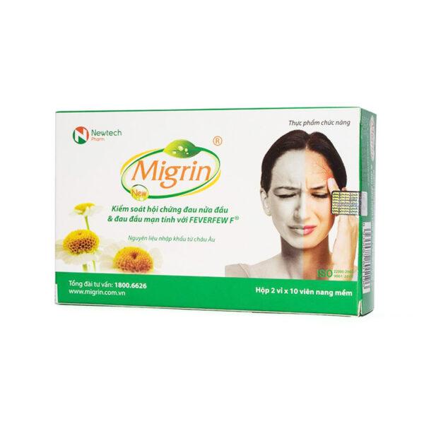 Migrin New 20 viên - Hỗ Trợ Điều Trị Đau Nửa Đầu