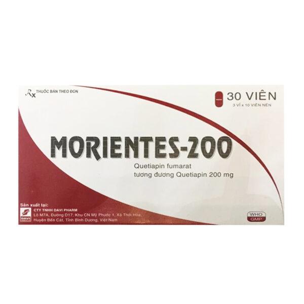 Morientes 200mg - Hộp 30 Viên - Điều Trị Rối Loạn Lưỡng Cực