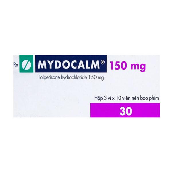 Mydocalm 50mg Hộp 30 Viên - Điều Trị Co Cứng Cơ