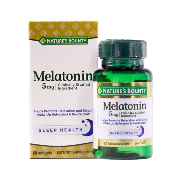 Nature's Bounty Melatonin 5mg Lọ 60 Viên - Điều Hoà Giấc Ngủ