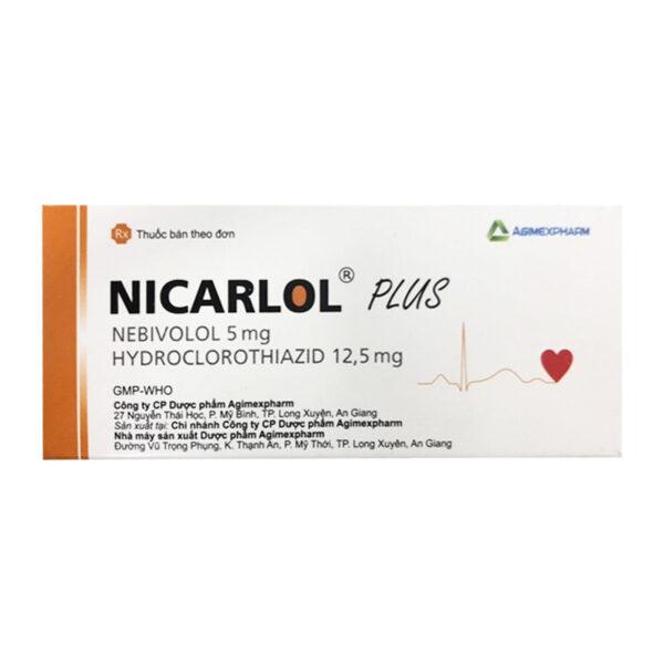 Nicarlol Plus Hộp 30 Viên - Điều Trị Tăng Huyết Áp