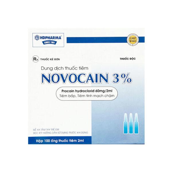 Novocain 3% Hộp 100 Ống - Thuốc Gây Tê