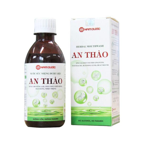 Nước súc miệng dược liệu An Thảo Chai 250ml