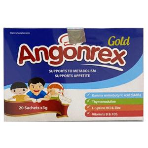 Angonrex Gold Hộp 20 gói - Hỗ trợ tiêu hóa, bồi bổ cơ thể