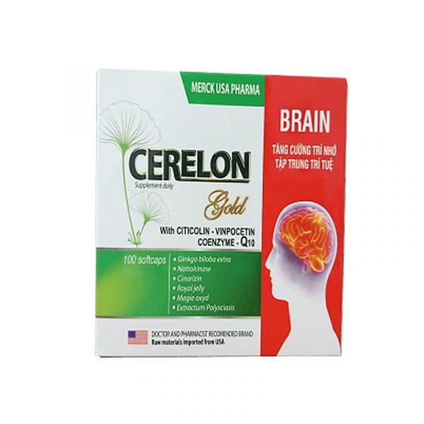 Viên bổ não Merck USA Pharma Cerelon Gold Hộp 100 Viên