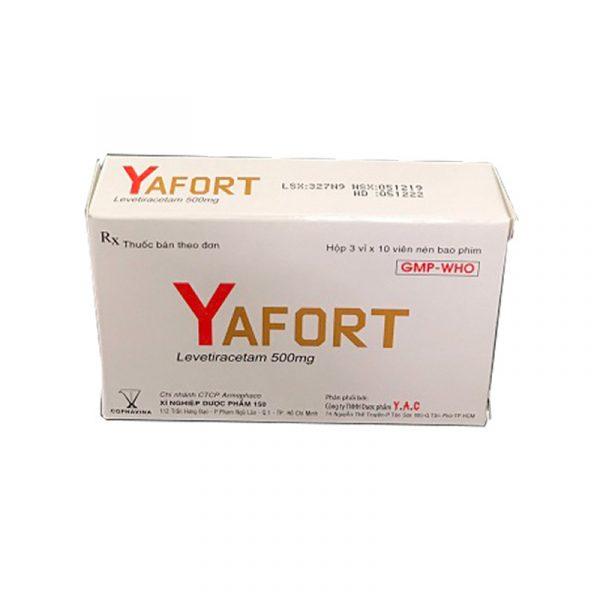 Yafort Hộp 30 viên - Điều trị động kinh, co giật