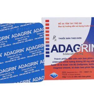 Adagrin 50mg Hộp 3 viên - Tăng cường sinh lý phái mạnh