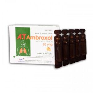 A.T Ambroxol Hộp 30 ống - Điều trị viêm đường hô hấp