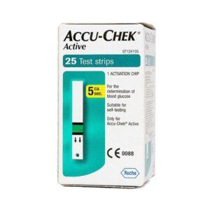 Accu Chek Active-Hộp  25 Que-Que Thử Đường Huyết