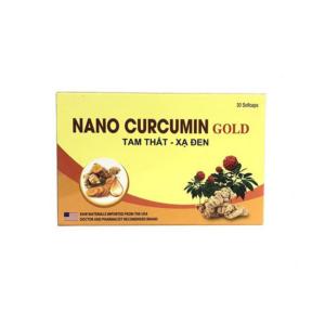 Nano Curcumin Gold Tam Thất Xạ Đen Hộp 30 Viên - Giảm Loét Dạ Dày