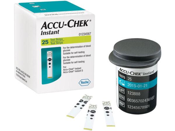 Accu Chek Instant-Hộp  25 Que- Que Thử Đường Huyết