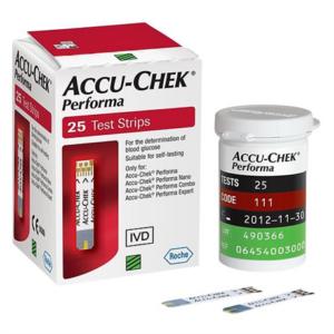 Accu Chek Performa-Hộp  25 Que- Que Thử Đường Huyết