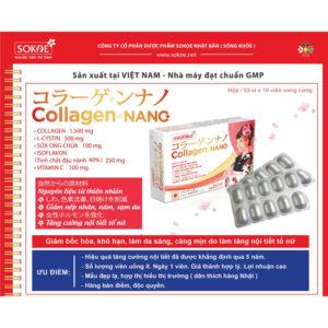 Collagen Nano Hộp 30 Viên - Tăng Cường Nội Tiết Tố Nữ, Cải Thiện Da