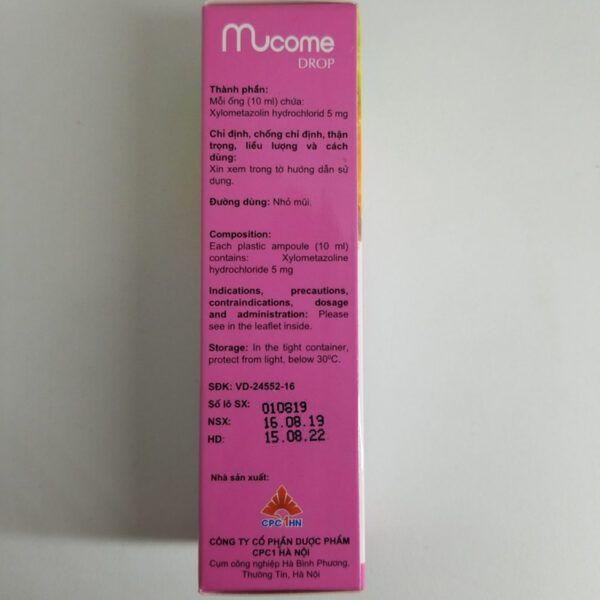 Thuốc Nhỏ Mũi Mucome Drop-Hộp 10ml-Trị Viêm Xoang, Sổ Mũi
