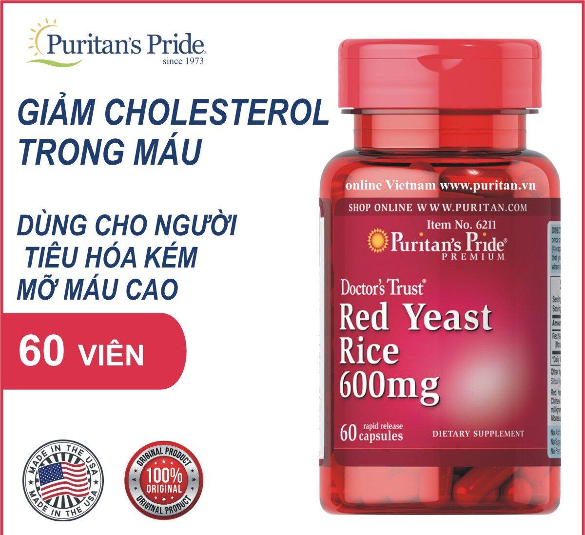 Red Yeast Rice 600 mg -Công dụng đặc biệt
