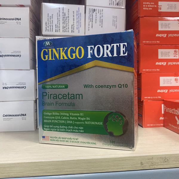 Ginkgo Forte With Coenzym Q10 Hộp 100 Viên - Tăng Tuần Hoàn Não